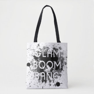 Glam Boom Bang Dark Paint Splat Tote Bag