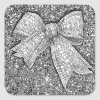 Glam Bow Products. Square Sticker