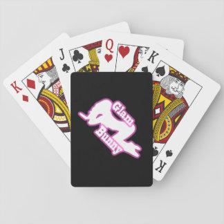 Glam Bunny Crawl Logo Playing Cards
