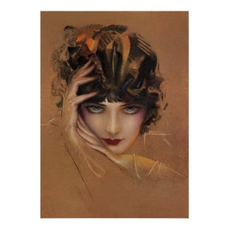 Glam by rolf armstrong poster