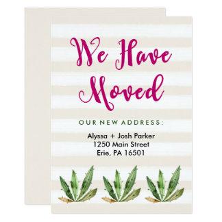 Glam Cactus | Desert Stripes Change of Address Card