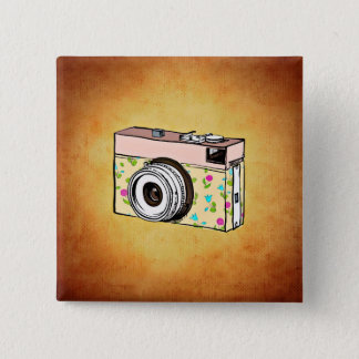 Glam Cam Retro Camera Square Button