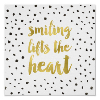 Glam Dots   Faux Gold Foil Calligraphy Quote Poster