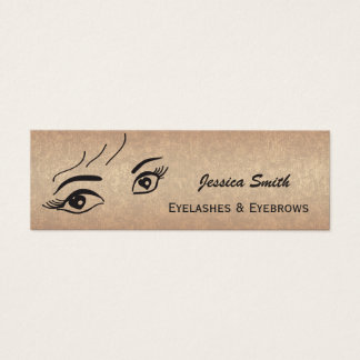 Glam  elegant rose gold alluring heart eyes mini business card