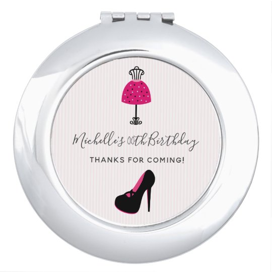 Glam Fashion Diva Birthday Party Guest Favour Compact Mirror