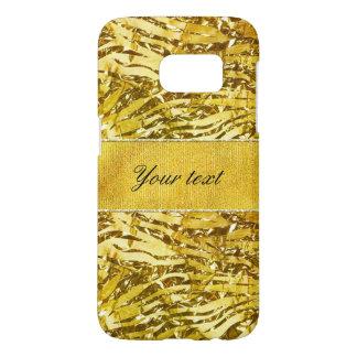 Glam Faux Gold Foil Zebra Pattern