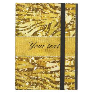 Glam Faux Gold Foil Zebra Pattern Case For iPad Air