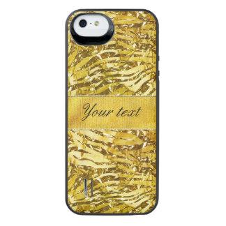 Glam Faux Gold Foil Zebra Pattern iPhone SE/5/5s Battery Case