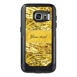 Glam Faux Gold Foil Zebra Pattern OtterBox Samsung Galaxy S7 Case
