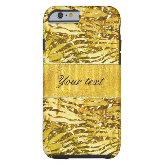 Glam Faux Gold Foil Zebra Pattern Tough iPhone 6 Case