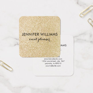 Glam Faux Gold Glitter Look Business Card