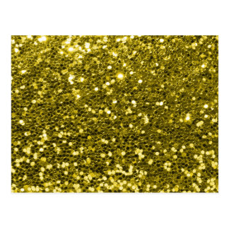 Glam Faux Gold Glitter Sparkle Print Postcard