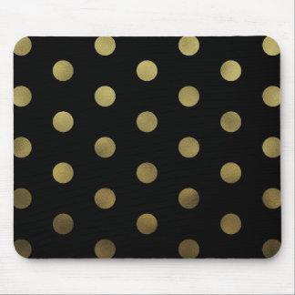 Glam Faux Gold Polka Dots Modern Mousepad