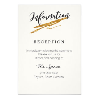 Glam Glitter Black and White Information Card