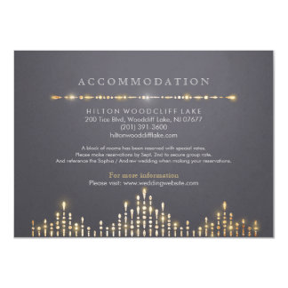 Glam gold art deco vintage wedding accommodation 11 cm x 16 cm invitation card