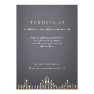 Glam gold art deco vintage wedding detail card 11 cm x 16 cm invitation card