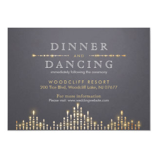 Glam gold art deco vintage wedding reception 11 cm x 16 cm invitation card