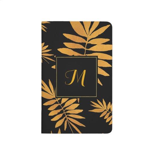Glam gold fern - Monogram Journal