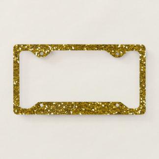 Glam Gold Glitter Licence Plate Frame