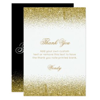 Glam Gold Heels, Thank You Cards