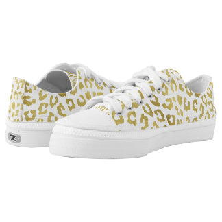 Glam Gold Leopard Print Low Tops