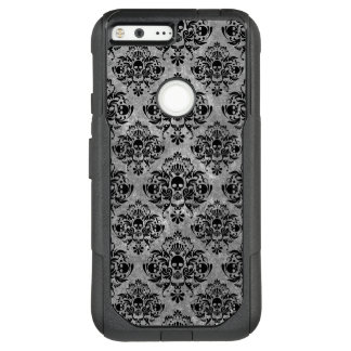 Glam Goth Mini Skull Damask Pattern Black Gray OtterBox Commuter Google Pixel XL Case