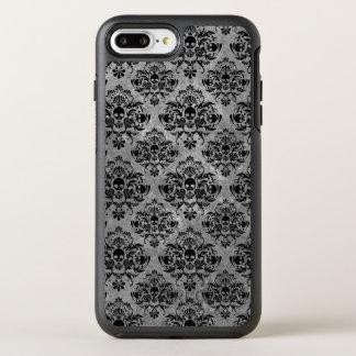 Glam Goth Mini Skull Damask Pattern Black Gray OtterBox Symmetry iPhone 8 Plus/7 Plus Case