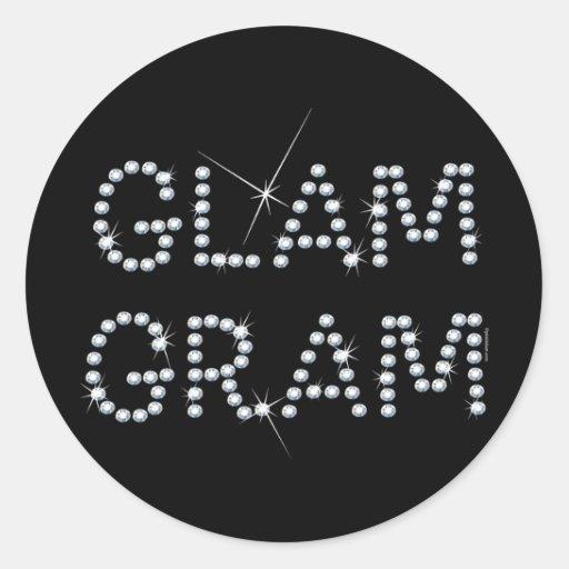 Glam Gram Round Sticker
