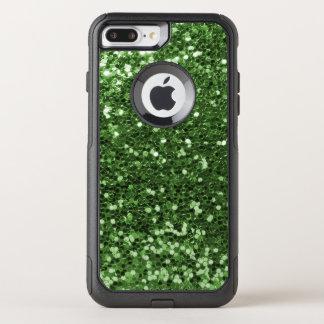 Glam Green Faux Glitter Fun Print OtterBox Commuter iPhone 8 Plus/7 Plus Case