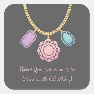 Glam Jewel Jewellery Girls Birthday Party Stickers