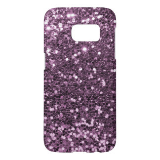Glam Lavender Purple Faux Glitter Print