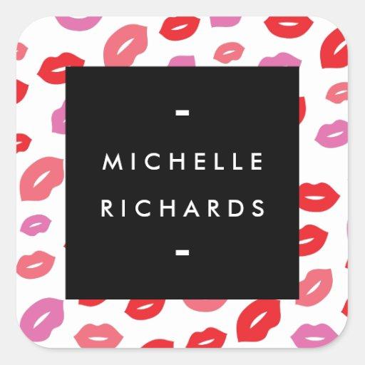 Glam Lip Print Sticker