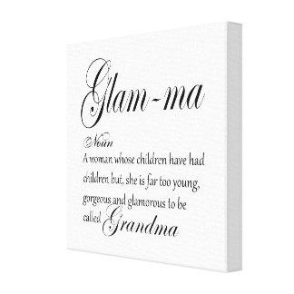 GLAM MA grandma definition Canvas Print