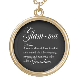GLAM MA grandma definition Gold Plated Necklace