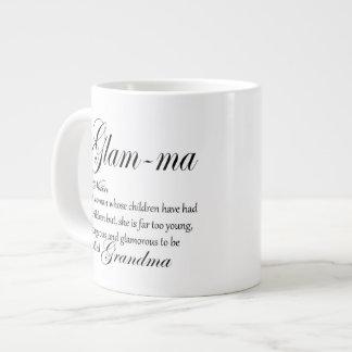 GLAM MA grandma definition Large Coffee Mug