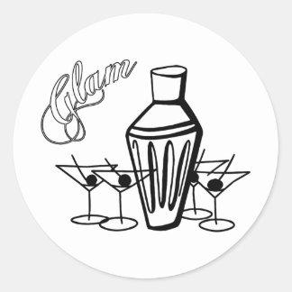Glam Martini Mix - Black & White Stickers