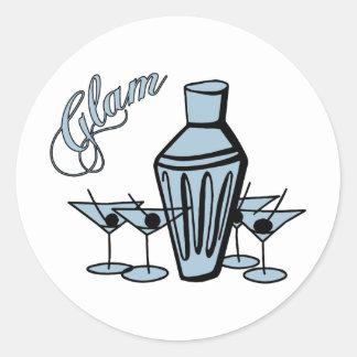 Glam Martini Mix - Blue Sticker