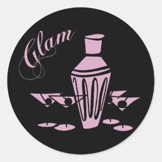 Glam Martini Mix - Pink Stickers