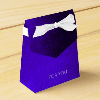 Glam Minimalism Cobalt Blue Wedding Birthday Favour Box