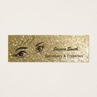 Glam modern faux gold glittery alluring heart eyes mini business card