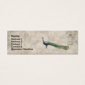 Glam Peacock  Business Cards