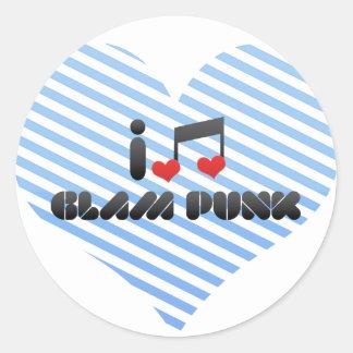 Glam Punk Round Stickers