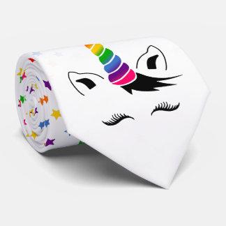 Glam Rainbow Unicorn Tie