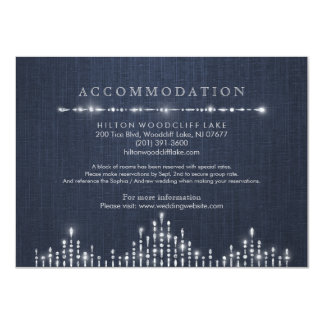 Glam silver art deco vintage wedding accommodation 11 cm x 16 cm invitation card