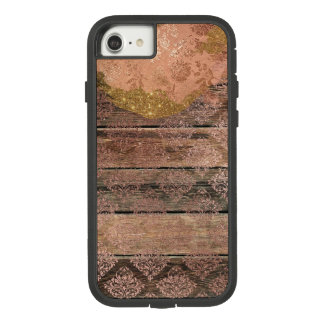 Glam Sparkle Distressed Wood Rose Diamond Pattern Case-Mate Tough Extreme iPhone 8/7 Case