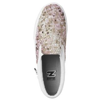 Glam Sparkle Faux Diamond Glitter Rhinestone Bling Slip-On Shoes