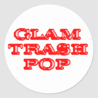 Glam Trash Pop Stickers