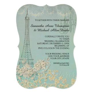Glam Vintage Paris Parisian Stylish Wedding Card