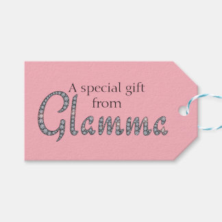 Glamma bling design tag