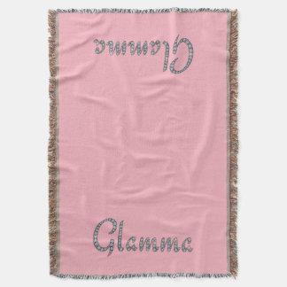Glamma bling design throw blanket